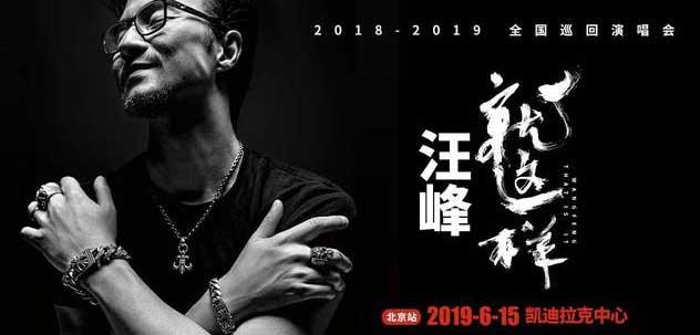 汪峰2019巡演北京站开启预售 解锁全新视听盛宴