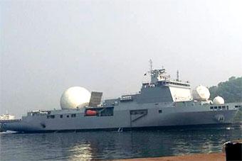 印度大型测量船首次完整曝光 顶3个球