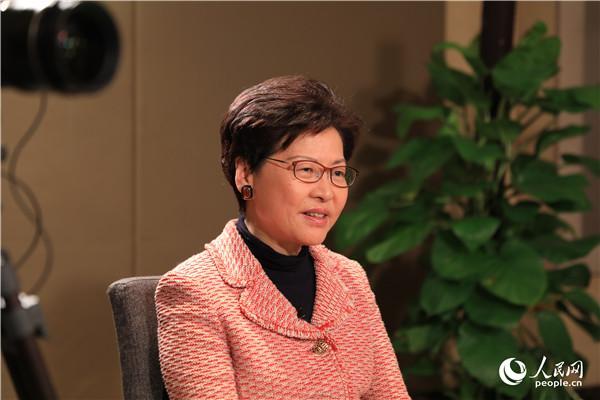 专访林郑月娥:2019年,香港要积极参与这3件国家大事