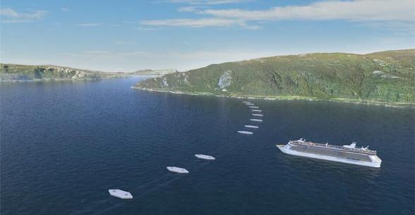 挪威拟建水下浮动隧道 立足水下40米深处