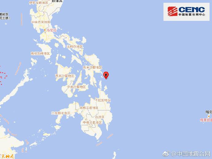 菲律宾东部外海遭6.0级强震侵袭