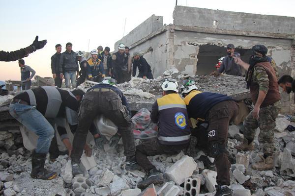 叙利亚伊德利卜省地区遭空袭