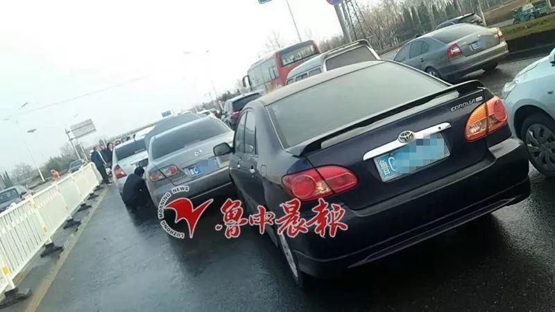 早上7点10分,淄博一路段发生多起车祸