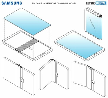 三星最新可折叠手机专利曝光:只有钱包大小