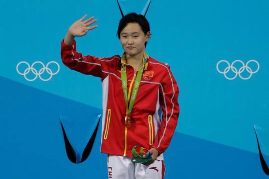 任茜摘得里约奥运会女子跳水10米台金牌
