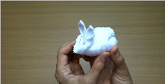 教你用毛巾折一只兔子