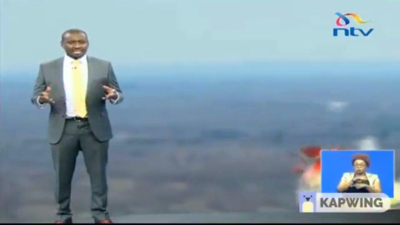 激怒观众 肯尼亚主持人用不当手势模拟埃航空难遭批