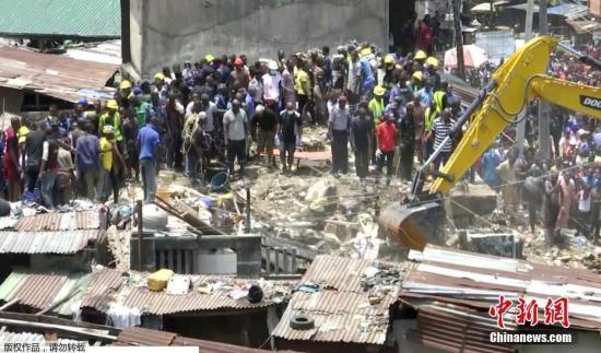尼日利亚楼房坍塌至少12人死亡