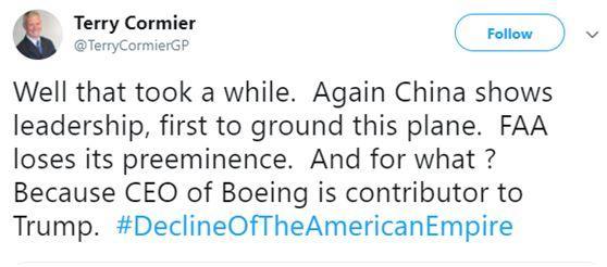 特朗普宣布停飞,美网友:终于,美国追随了中国的脚步!