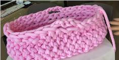 纯手工编织宝宝篮
