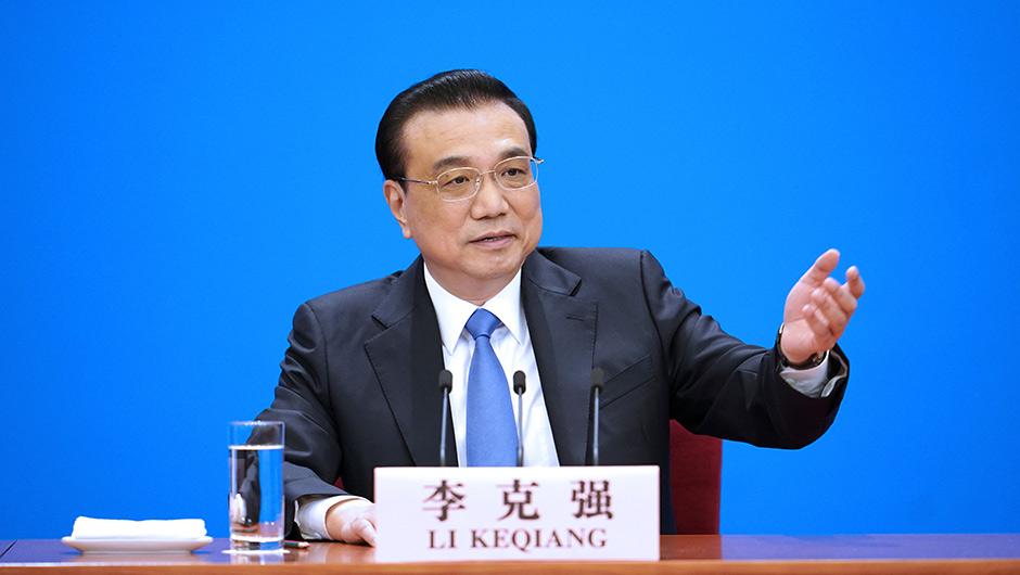 李克强总理会见中外记者