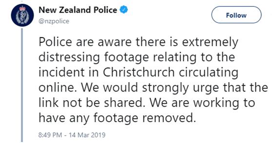 CNN:脸书已删除疑似新西兰枪击案枪手账号和相关视频
