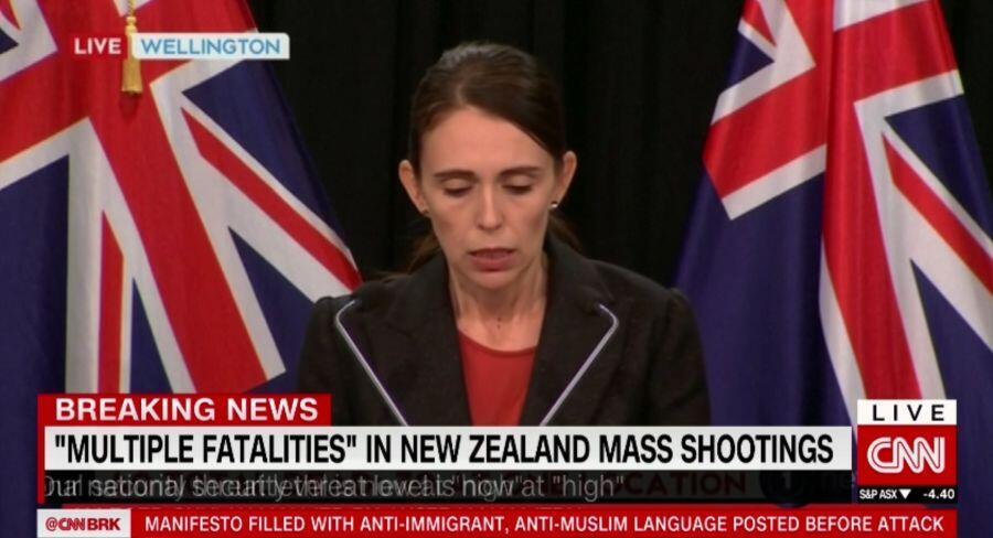 快讯!新西兰总理:枪击案已致40人遇难