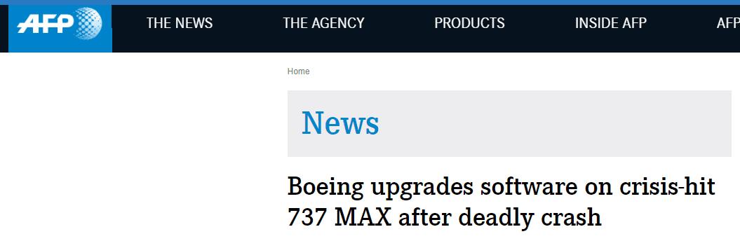 消息人士:波音将在10天内为737 MAX防失速系统升级软件