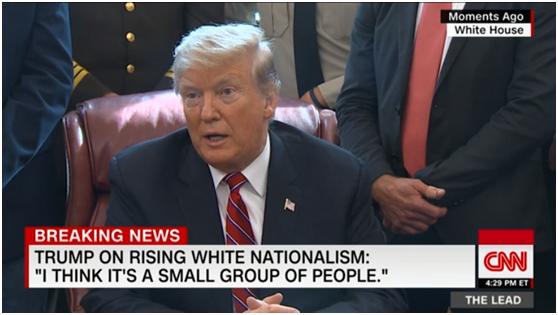 特朗普谈新西兰枪击案:没看到白人至上主义