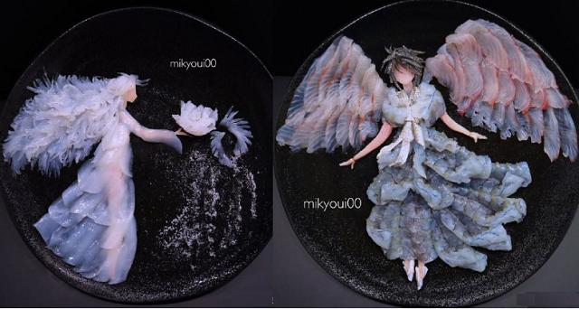 美炸了!日本厨师将生鱼片做成了艺术大片
