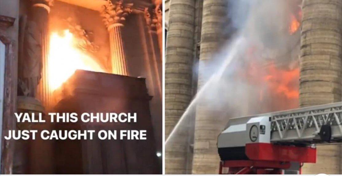 快讯!法国巴黎圣叙尔皮斯教堂着火