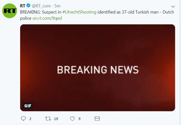 枪击案后,荷兰紧急搜捕一名土耳其男子