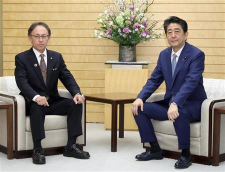 安倍再度会晤冲绳知事玉城丹尼,双方就普天间搬迁问题仍存分歧