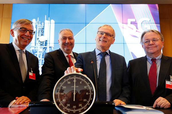 德国启动5G频谱拍卖 四家公司竞拍