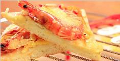 外酥里嫩的大虾披萨