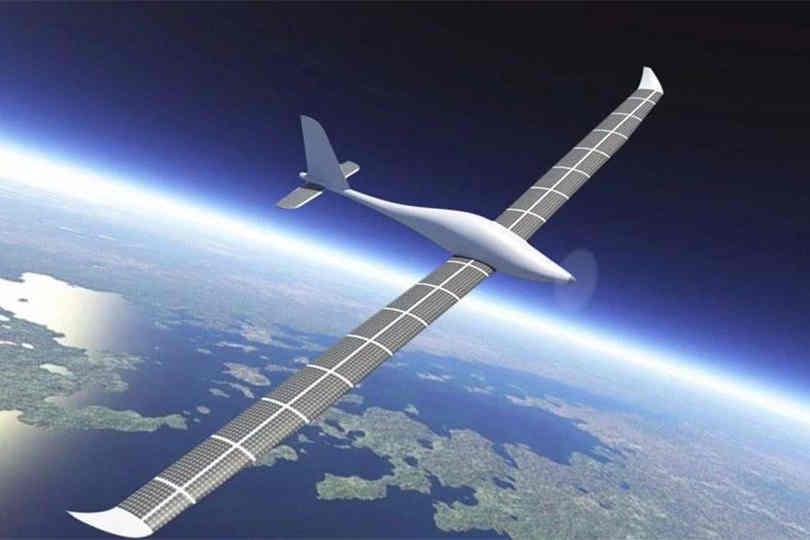 """中国太阳能无人机""""飞云""""接近太空飞行"""