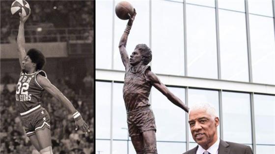 NBA巨星的雕像:乔丹张伯伦霸气十足
