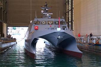 台湾自研双体船亮相 称将搭载雄风反舰导弹