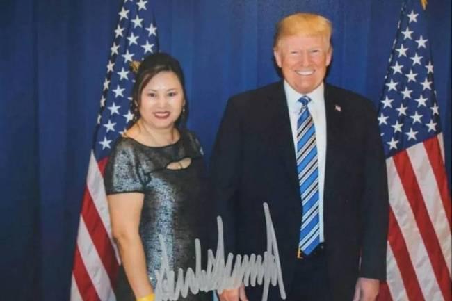 """炫耀与特朗普的合影,美华裔女商人被扯入""""中国间谍""""风暴中"""
