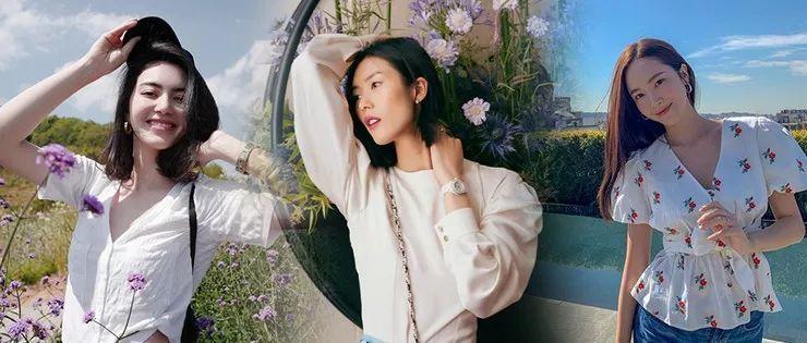 踏青拍照的构图多重要,刘雯Jesscia在花海里都知道