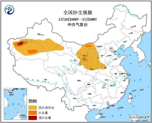 沙尘暴蓝色预警 新疆内蒙古局地有强沙尘暴