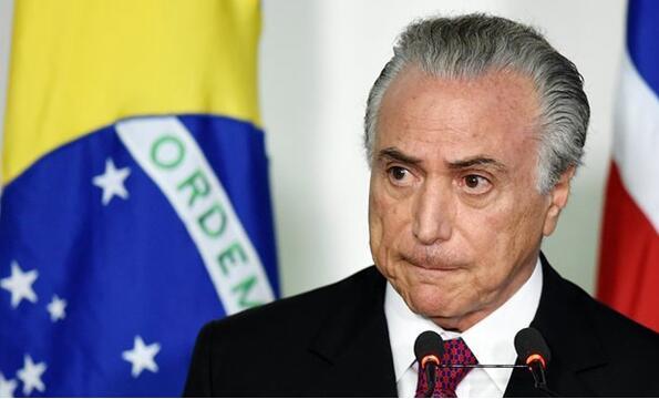 外媒:巴西前总统特梅尔涉嫌腐败被捕