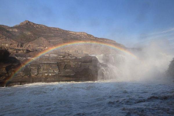 山西临汾:黄河上游全面开河