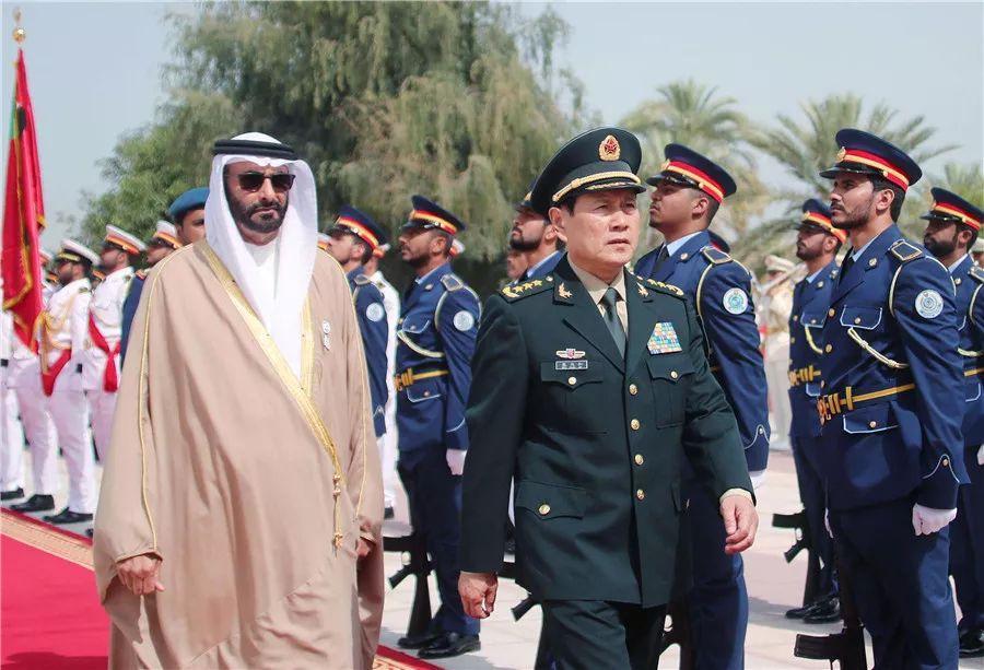 阿联酋阿布扎比王储穆罕默德会见魏凤和