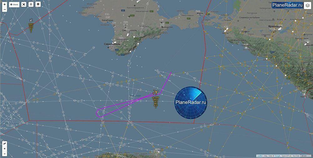 俄媒:美空军侦察机22日在克里米亚沿海侦察飞行