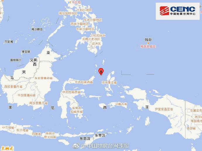 印尼马鲁古海北部附近发生6.1级左右地震