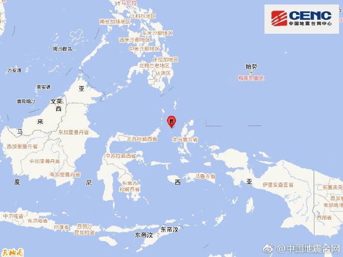 印尼马鲁古海发生6.1级地震 震源深度30千米