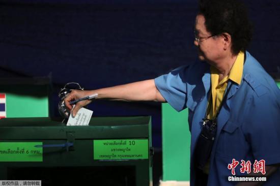 泰国迎大选总理巴育行使选举权 呼吁民众参选投票