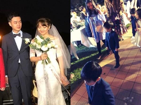 林志颖爱妻也晒出新人婚纱照,双胞儿子是花童