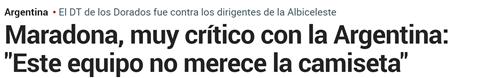 马拉多纳:看阿根廷比赛?不,我不看恐怖片