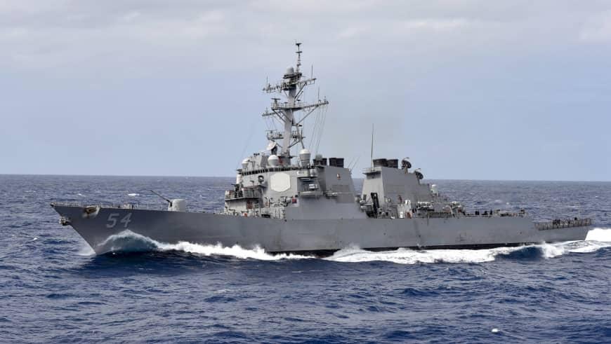 挑衅!美国军舰再次穿越台海 还带了一艘海警船