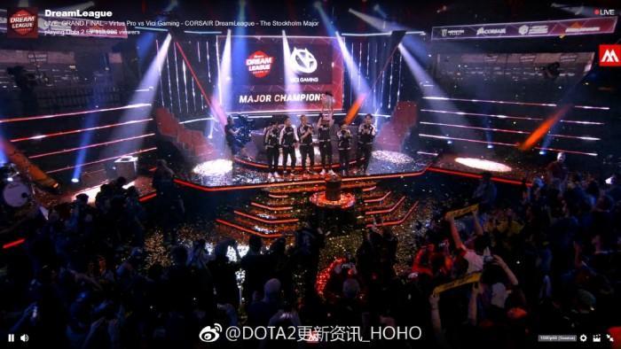 中国Dota 2战队VG夺冠斯德哥摩尔Major:恭喜VG