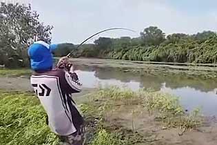 乐极生悲!澳渔民河边钓上大鱼引来鳄鱼抢食