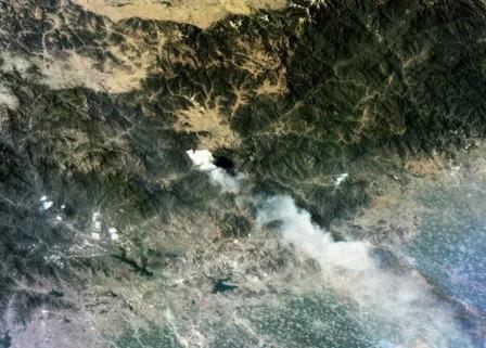 河北涞源发生山火,我国多颗卫星实现监测