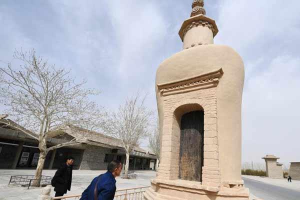 敦煌莫高窟道士塔完成修缮