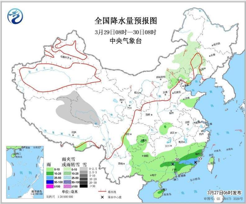 江南北部等地将有强降水 青藏高原东部仍有明显降雪