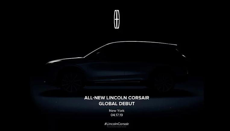 林肯Corsair预告图发布 MKC换代车型