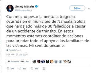 危地马拉一卡车撞向人群,造成至少32人死亡
