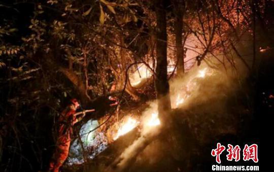 四川冕宁发生森林火灾 2架直升机参与灭火