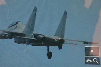 兰卡威航展马来西亚苏30MKM上天后起落架没收